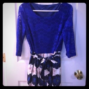Beautiful Royal blue and floral dress💘💘💘